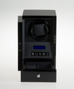 Single Watch Winder-S2101BB-open1 | Zoser