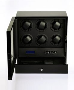 Cabinet Watch Winder-S206-LB-open1 | Zoser