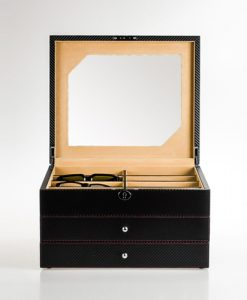 Leatehr Glasses Box-G013-BX-L-open1 | Zoser
