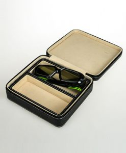 Leather Glasses Box-2GL-B-open | Zoser