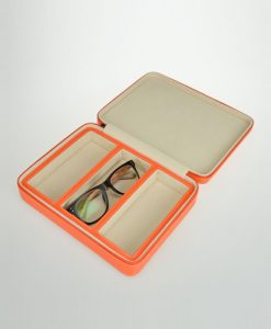 Leather Glasses Box-3GL-O-open | Zoser