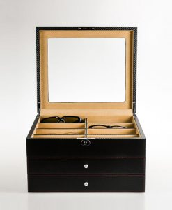 Leather Glasses Box-G013-KC-L-open1 | Zoser