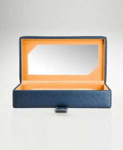 Leather Glasses Box-PG206-BL-open1 | Zoser