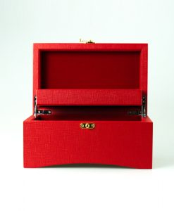 Leather Jewelry Box-PG205RR-open1 | Zoser