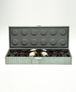 Leather Watch Box-12W-MGB-open1 | Zoser
