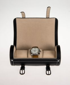 Leather Watch Box-3W-SP-B-open1 | Zoser
