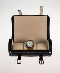 Leather Watch Box-3W-SP-B-open1 | Zoser