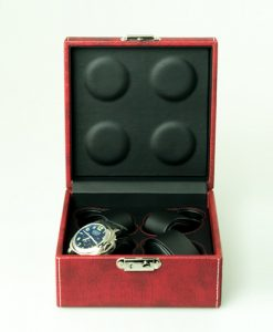 Leather Watch Box-4W-MRB | Zoser