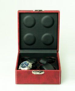 Leather Watch Box-4W-MRB | Zoser
