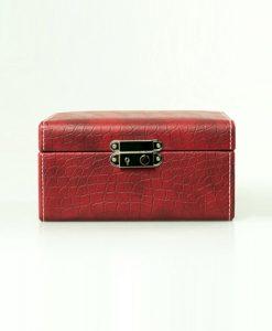 Leather Watch Box-4W-MRB-close1 | Zoser