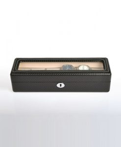 Leather Watch Box-6W-KC-close1 | Zoser