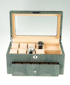 Leather Watch Box-Watch Box-10+8MGC-open1 | Zoser