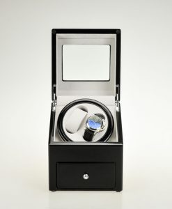 Title Single Watch Winder-90621BG-9-open1 | Zoser