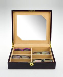 Wooden Glasses Box-G011EC1-open1 | Zoser