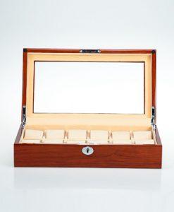 Wooden Watch Box-804-12RWC-open1 | Zoser