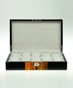 Wooden Watch Box-805-10ZS-BG-open1 | Zoser