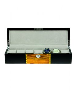 Wooden Watch Box-807-7ZS-BG-open2 | Zoser